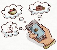 Mobile Marketing? Of Course! But How? image journal illustration app 300x262