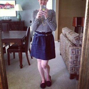 Tuesday: J. Crew City Mini and striped tee
