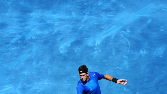 Juan Martin Del Potro Of Argentina Plays A Backhand In His Semi Final Match Against Tomas Berdych Of The Czech Getty Images