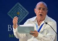 The head of the OECD Angel Gurria, pictured in June 2012, said he supports the European Central Bank's plan to buy sovereign bonds of eurozone nations, in an interview published on Saturday