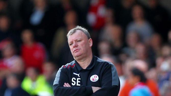 Steve Evans struggled being away from Rotherham's game at the weekend