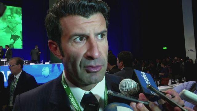 Figo and Blatter speak after  Napout re-elected