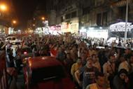 Egyptian protesters demonstrate against the results of the first round of the presidential elections in Cairo