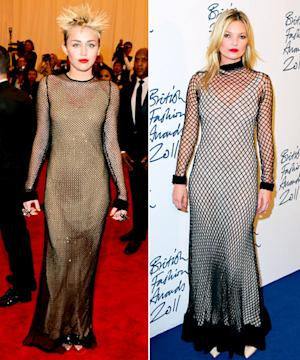 Who Wore It Best: Miley Cyrus or Kate Moss?