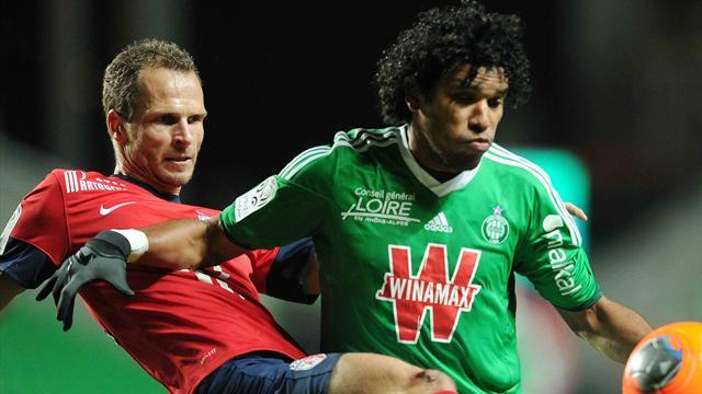 Ligue 1 - St Etienne close gap on Lille