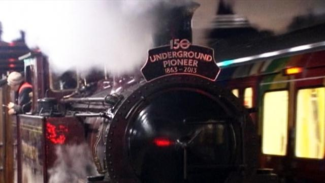 Steam train ushers in 150 years of London Underground