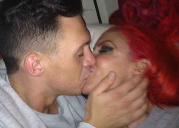 Jodie Marsh and Kirk Norcross kissing