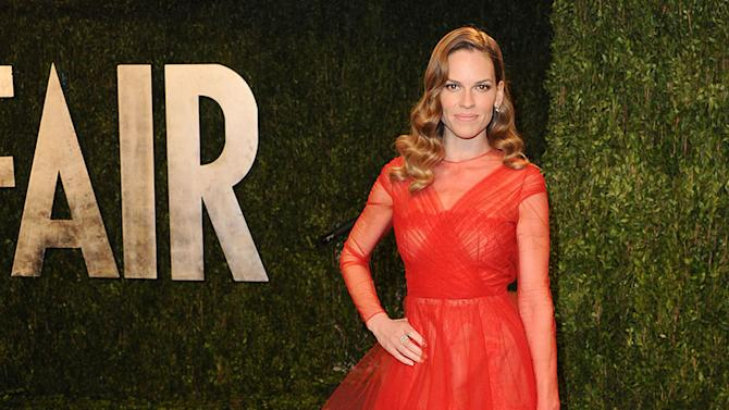 2013 Vanity Fair Oscar Party: Hilary Swank