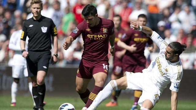 Premier League - Manchester City held by Swansea in bore draw