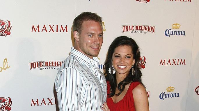 Melissa Rycroft and Tye Strickland arrive at the Maxim's 10th Annual Hot 100 Celebration at The Barker Hangar on May 13, 2009 in Santa Monica, California.