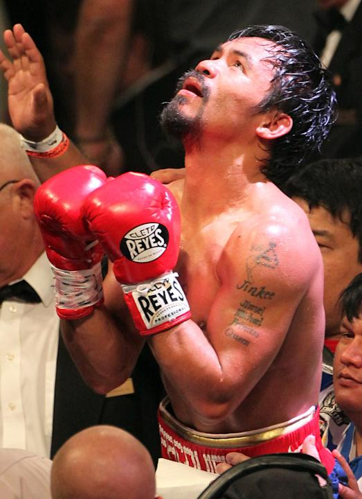 Manny Pacquiao Reacts  Getty Images