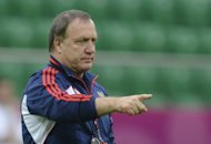 Russia's impressive start to their Euro 2012 campaign is down to coach Dick Advocaat, seen here on June 7, Zenit Saint-Petersburg and Russian first choice goalkeeper Vyacheslav Malafeev told uefa.com