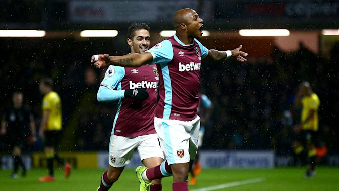 Andre Ayew's second-half strike secures West Ham a point at Watford