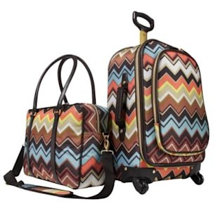 This Missoni for Target luggage will be easy to spot at the airport! Photo by Target