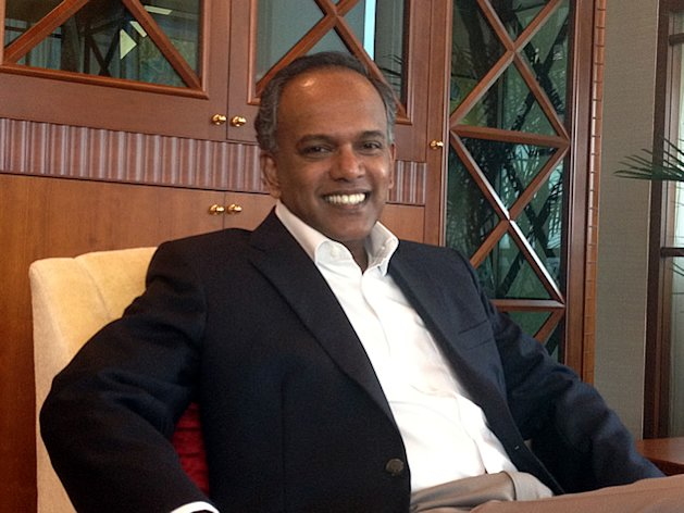 Law and Foreign Affairs minister K Shanmugam sat down recently for a wide-ranging interview with Yahoo! Singapore. (Yahoo! photo)
