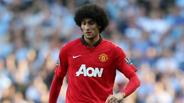 Manchester United midfielder Marouane Fellaini (Reuters)