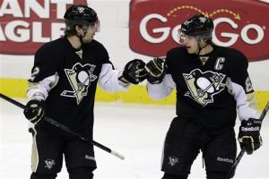Pens' win streak at 10 games with 2-1 victory