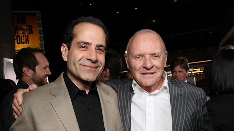 The Rite LA Premiere 2011 Tony Shaloub Anthony Hopkins