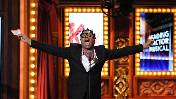 Billy Porter accepts his award for best actor in a musical at the 67th Annual Tony Awards, on Sunday, June 9, 2013 in New York. (Photo by Evan Agostini/Invision/AP)