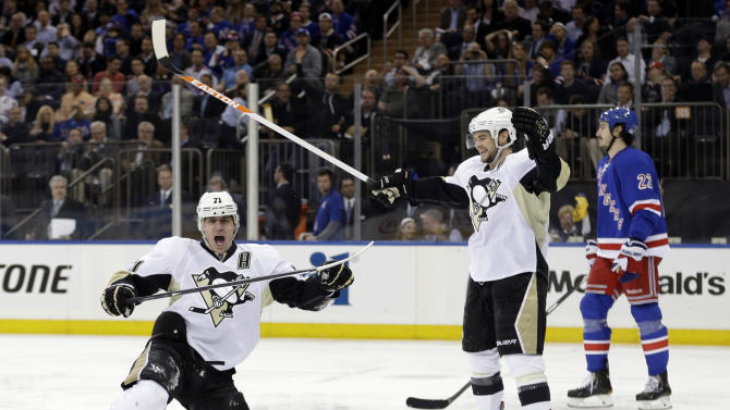 Pens win 3rd straight, take 3-1 lead over Rangers