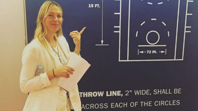 Maria Sharapova just interned for the NBA