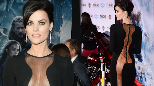 Jaimie Alexander shows Thor he's missing. (Photo Credit: Clevver News)