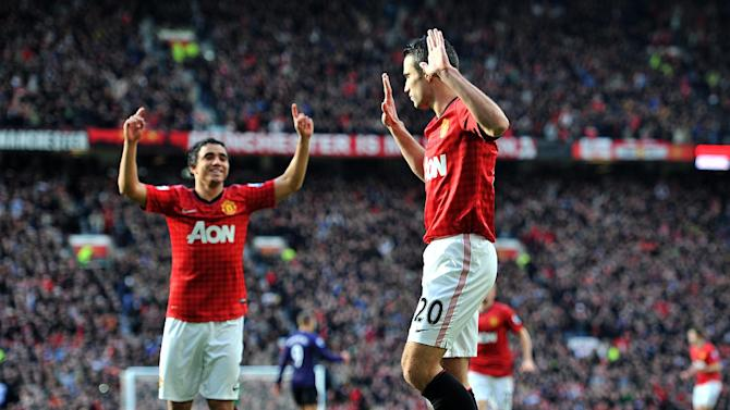 Manchester United's Robin van Persie scored the opener against his former club