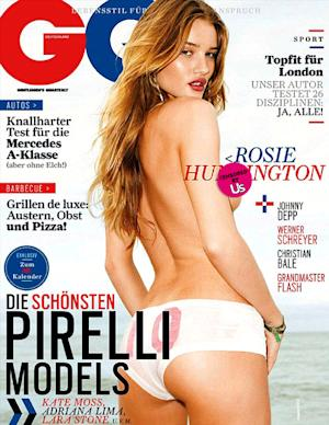 Eek! Rosie Huntington-Whiteley Exposes Nipple on German GQ