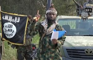 A video image of the Boko Haram extremist group leader…