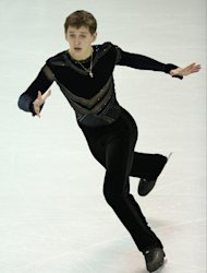 Russia's Maxim Kovtun skates his free program in the men's competition at the 2013 World Figure Skating Championships in Ontario, March 15, 2013
