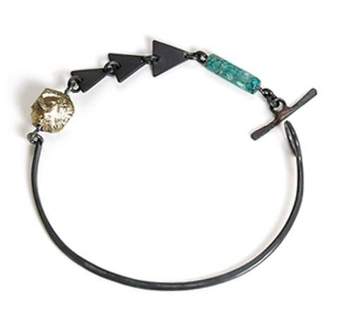 Stone and Honey, Caldera Bracelet, $84