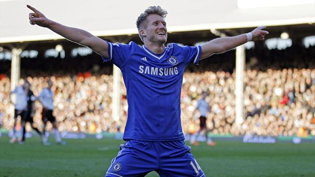 Premier League - Schuerrle hat-trick sees Chelsea extend lead at top