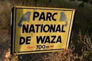 A sign marking the entrance to the Waza National Park in northern Cameroon is pictured in October 2008. A source close to the French embassy in Yaounde said a family that had been kidnapped had earlier visited Waza National Park