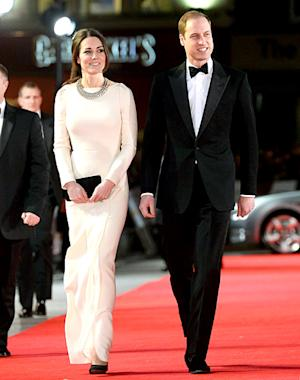 Kate Middleton Recycles Slinky, Long-Sleeved Gown at Mandela Premiere With Prince William: Pictures