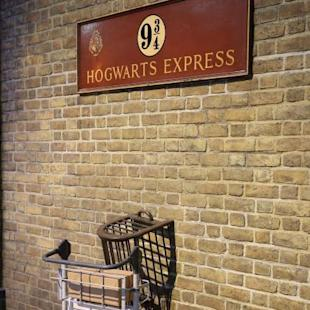 Lancio di Hogwarts Express - Set cinematografico della serie Harry Potter'