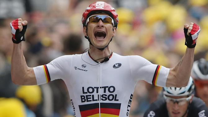 Tour de France - Greipel wins stage six in Reims