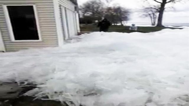 Video: Glacial flow overtakes Minn. resort