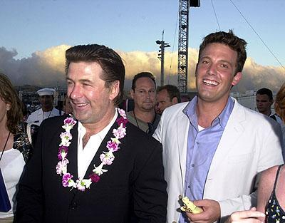 Premiere: Alec Baldwin and Ben Affleck aboard the USS John C. Stennis at the after-party for the Honolulu, Hawaii premiere of Touchstone Pictures' Pearl Harbor - 5/21/2001