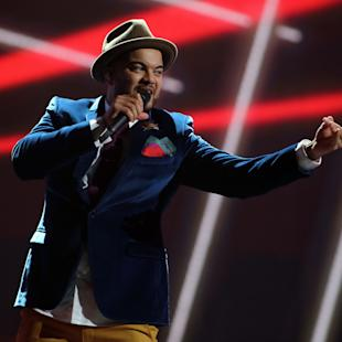 In this May 20, 2015 photo Australias's Guy Sebastian performs the song 'Tonight Again' during a dress rehearsal of the Eurovision Song Contest in Austria's capital Vienna. (AP Photo/Ronald Zak)