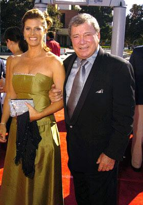 William Shatnerand wife Elizabeth Anderson Martin 2004 Emmy Creative Arts Awards Arrivals - 9/12/2004