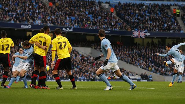 FA Cup - Tevez stars as City ease past Zola's Watford