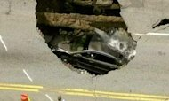 Ohio Sinkhole Swallows Car And Driver
