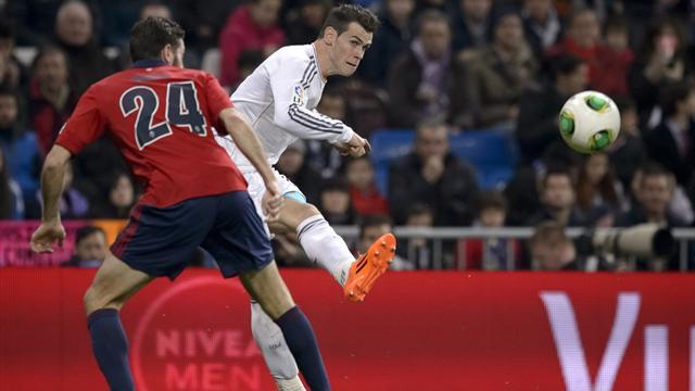 Liga - Bale returns to help Real beat Osasuna in Copa