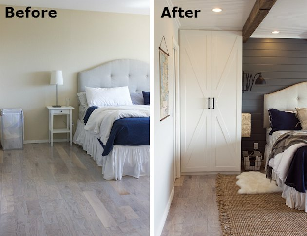 Before After A Builder Grade Bedroom Goes Cozy Yahoo Homes