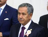 """Turkey's Vice Prime Minister Bulent Arinc, pictured in 2011, said Syria's shooting of a Turkish warplane was a """"hostile act of the highest order"""" ahead of NATO emergency talks"""