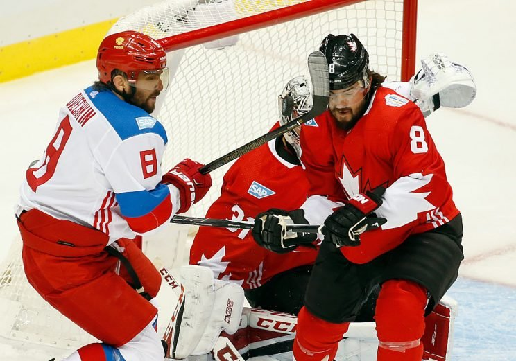 Alex Ovechkin vs. Drew Doughty (Getty Images)