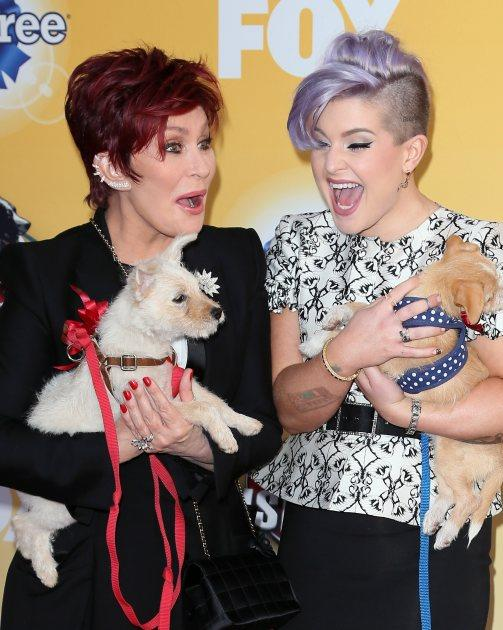 Sharon Osbourne (L) and Kelly Osbourne attend Fox's Cause For Paws: An All-Star Dog Spectacular at Barker Hangar on November 22, 2014 in Santa Monica -- Getty Images