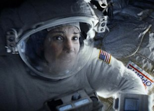 Sandra Bullock stars as a stranded astronaut in the hit movie 'Gravity'