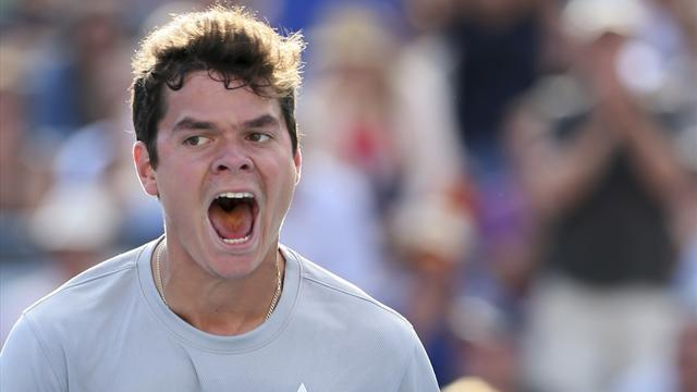 Tennis - Raonic skips for joy into top 10