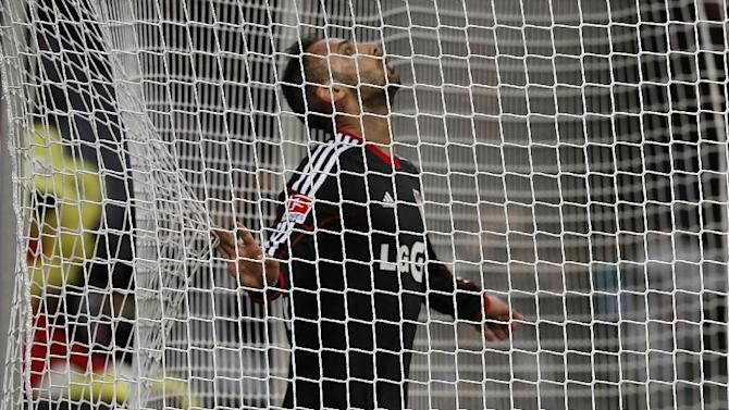 Leverkusen's Omer Toprak of Turkey looks up after missing a ball  during the German first division Bundesliga soccer match between Bayer Leverkusen and Eintracht Frankfurt in Leverkusen, Germany, Sunday, Dec. 15, 2013